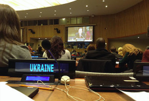 Ukrainian Youth Delegates at the 59th session of the UN Commission for Social Development