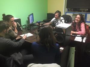 Ukrainian Youth Delegates ON AIR! Speaking at Domivka Radio, February 2016